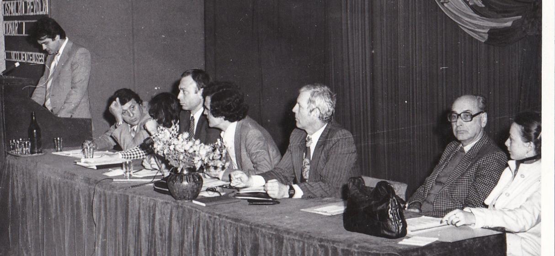 13 - conf alegere Comitet UTC, 5.11.1982, Calin Mihaileanu - al doilea din dreapta, urmat de Gheorghe Balan