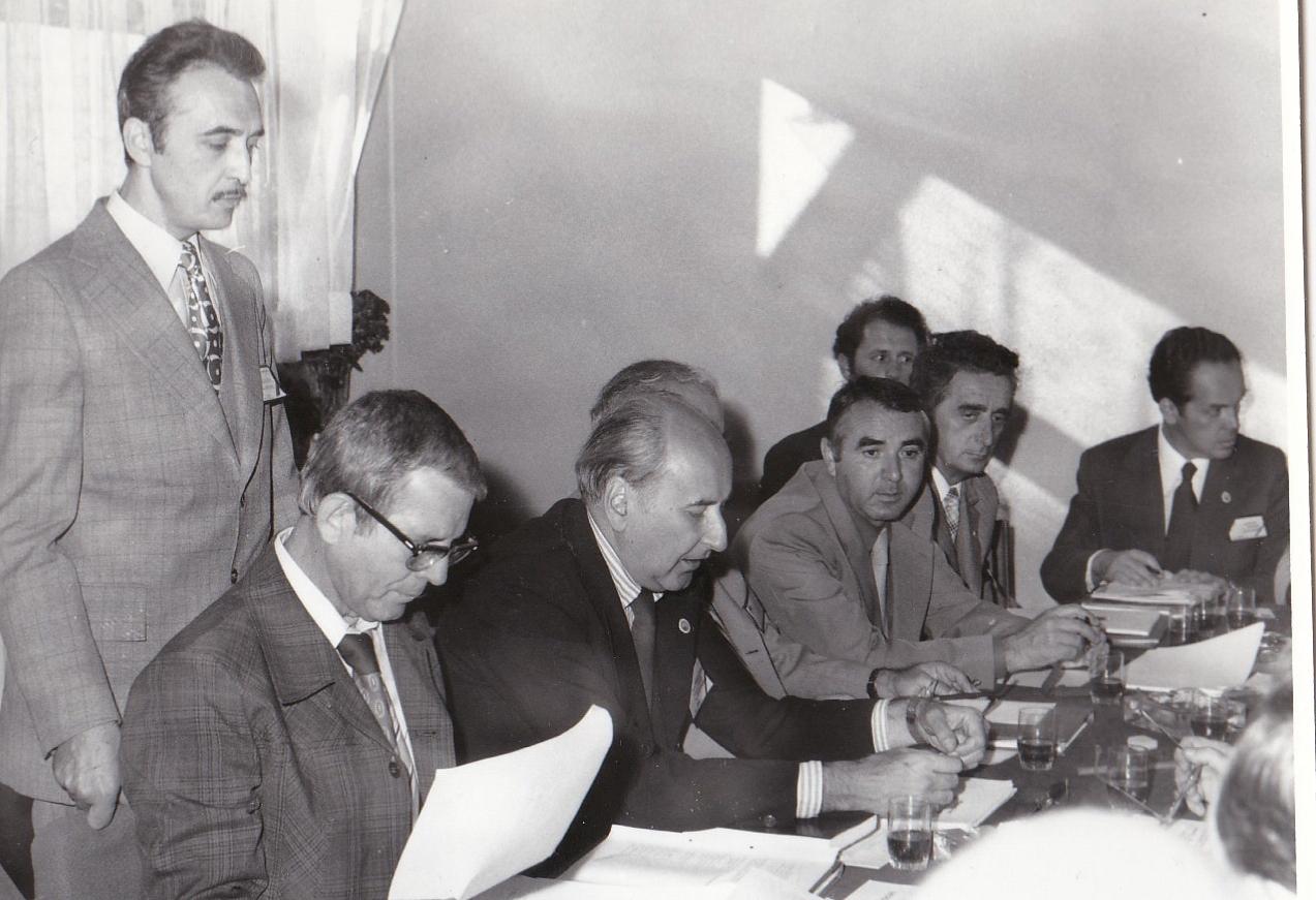 7 -a 9-a Consfatuire, 3.02.1978, in picioare Grigore Belousov, de la stanga la dreapta Gheorghe Balan, Calin Mihaileanu,